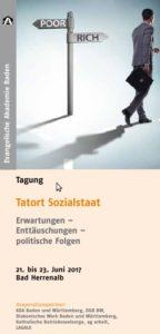 """Flyer """"Tatort Sozialstaat"""" Vorderseite"""