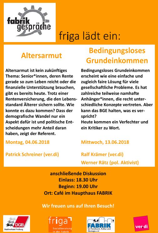 Gespräche in Freiburg zu Altersarmut und Bedingungslosem Grundeinkommen